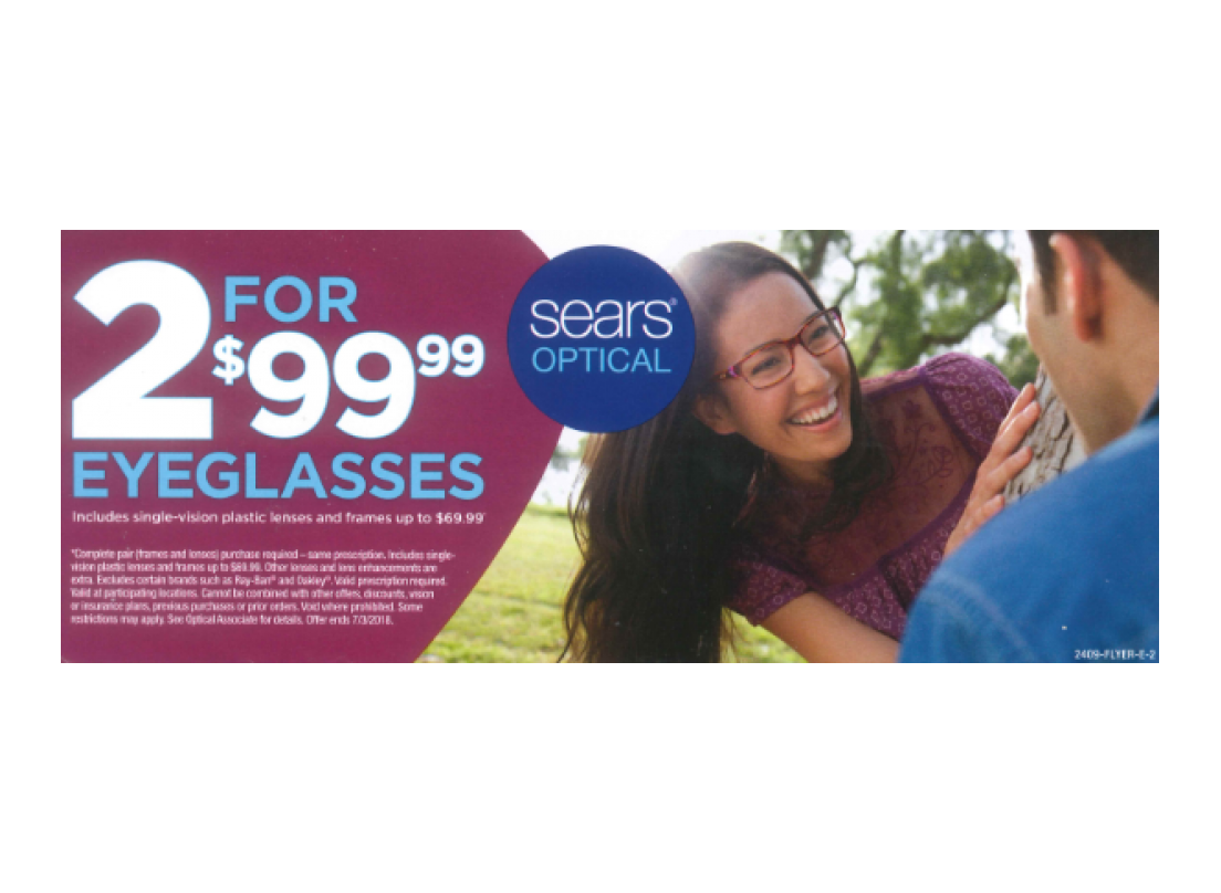 Sears Optical 2 For $99.99 Eyeglasses! | Spring Hill Mall