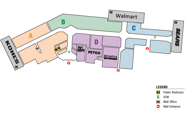 Bayshore Mall Map Bayshore Mall   Eureka, CA Bayshore Mall Map