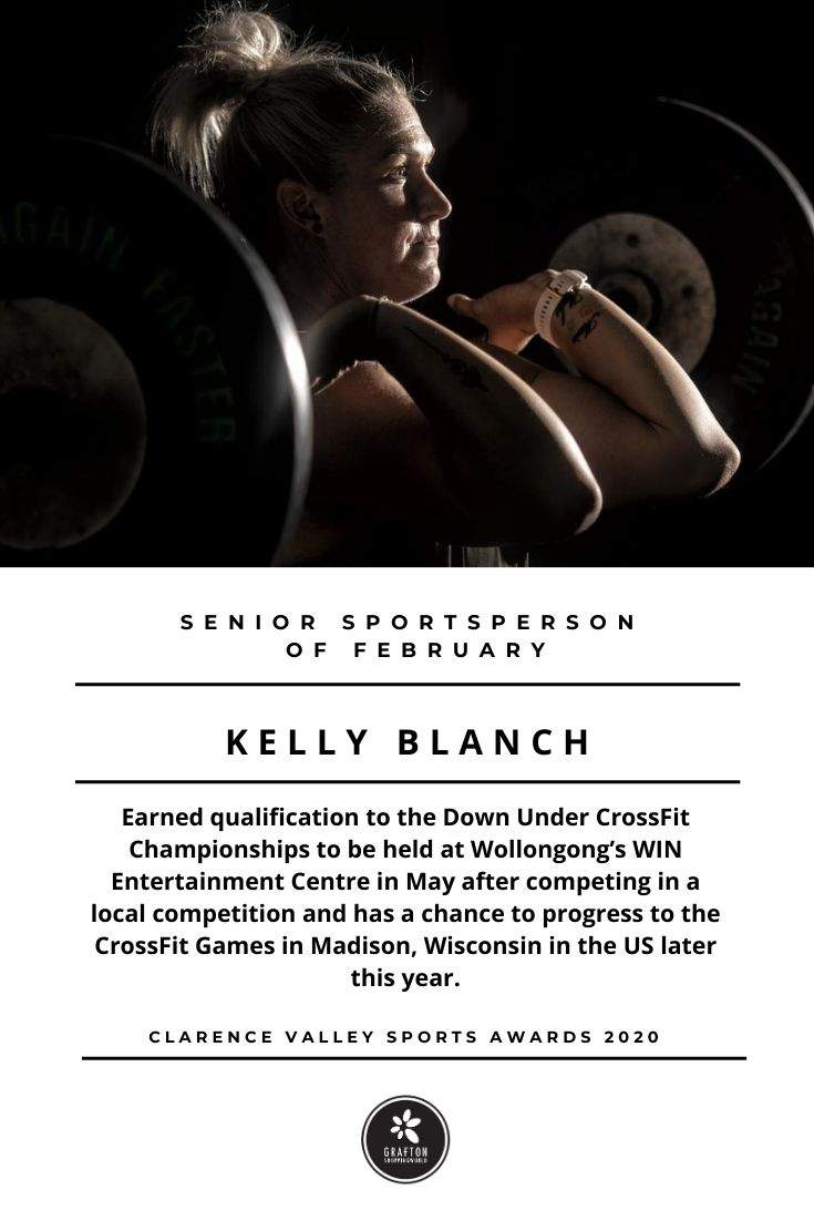 Fitness Trainer Kelly Blanch lifting weights