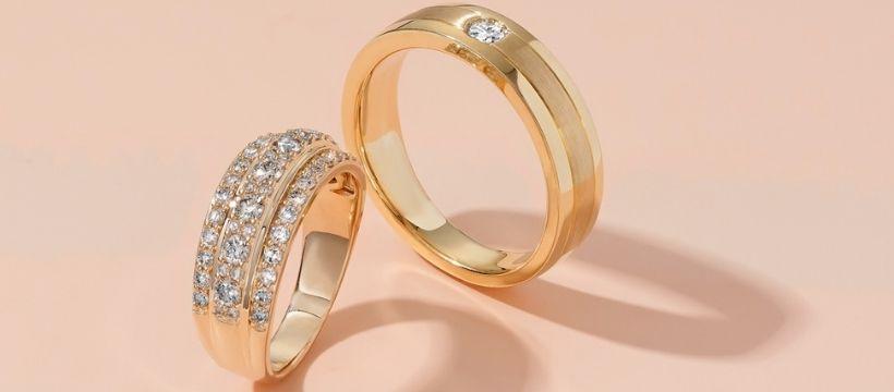 gold diamond band ring