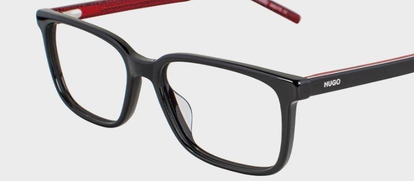 black and red hugo prescription glasses